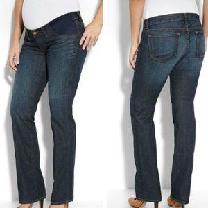 J Brand Mama J Maternity Jeans Straight Indigo EUC